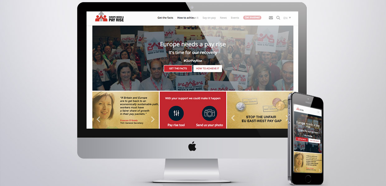 Pay rise campaign website